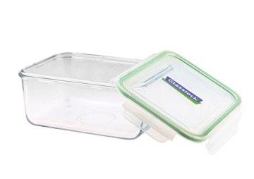 Glasslock (MCRB-190, 1900ml) Rechteckige Frischhaltedose aus Glas - Mikrowellen Typ -