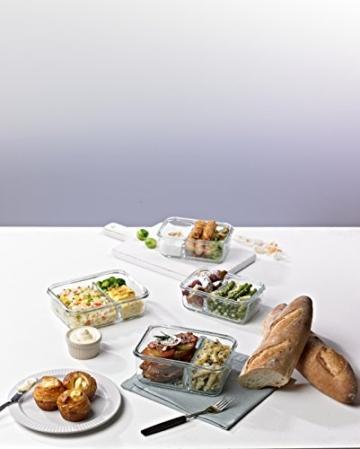 Glasslock (MCRK-100, 1000ml) Rechteckige Frischhaltedose aus Glas - Mikrowellen Duo Typ -