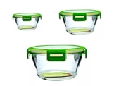 NEUHEIT!! STOREMAX von Pasabahce - 3 Teiliges Frischhaltedosen/ Vorratsdosen Set aus Glas. -