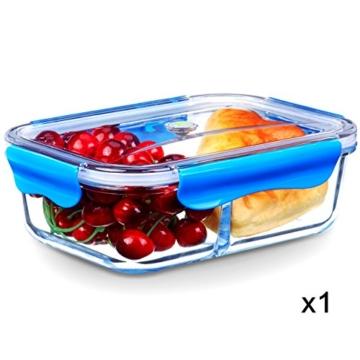 Seleware Lunchbox Kinder Glas Lock Mit Deckel Mikrowellengeeignet