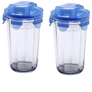 Glasslock Shaker, Glas, Blau/Transparent, 9 x 9 x 14.1 cm, 2-Einheiten - 1
