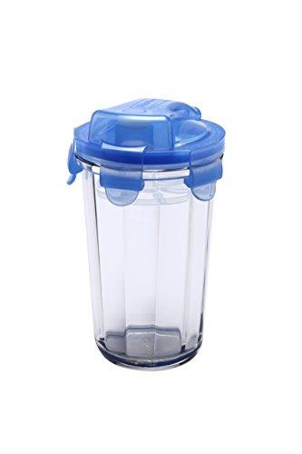 Glasslock Shaker, Glas, Blau/Transparent, 9 x 9 x 14.1 cm, 2-Einheiten - 2