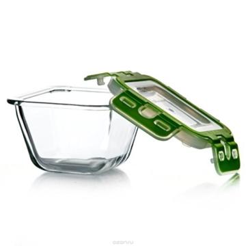 Pasabahce 53552 Storemax - Frischhaltedose, Vorratsdose, aus Glas mit Clip-Deckel, 2440ml - 2