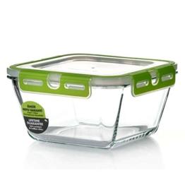Pasabahce 53552 Storemax - Frischhaltedose, Vorratsdose, aus Glas mit Clip-Deckel, 2440ml - 1
