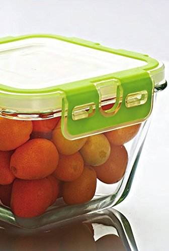 Pasabahce 53552 Storemax - Frischhaltedose, Vorratsdose, aus Glas mit Clip-Deckel, 2440ml - 4
