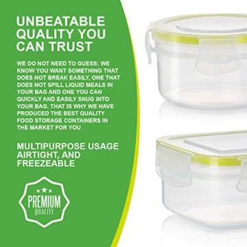 Zoë&Mii Premium 14 Teilige Smart Lock, Deckel, Frischhaltedosen Set, Dosen, Vorratsdosen, Plastikboxen, klick, Luftdicht Deckel,Boxen, Dosen,Set,Food Container, Vesperbox, -
