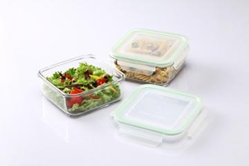 Gimex 6 teiliges GlassLock Frischhaltedosen Set aus Glas mit Deckel - 4