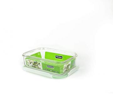 GLASSLOCK (2X MCRB-100, 2X 1000ml Rechteckige Vorratsdosen aus temperiertem Glas - Mikrowellen Typ - 2