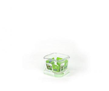 GLASSLOCK (2X MCSB-021, 2X 210ml Viereckige Vorratsdosen aus temperiertem Glas - Mikrowellen Typ - 2