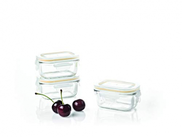 Glasslock Baby Meal Set rechteckig, 3 Teile -