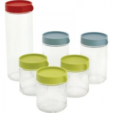 Glasslock Block Canister Rec't 12pc Set by GlassLock -