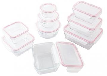 Glasslock GL-474 9pcs Mischung Frischhaltedose aus Glas Mail Box - Ofen Typ, Glas, Rot, 44.5 x 30.8 x 22 cm - 1