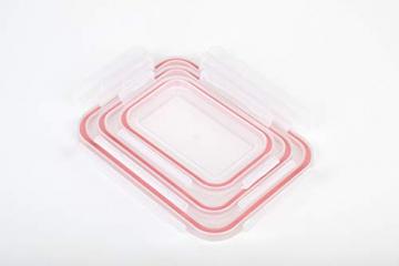 Glasslock (GL-529, 1x 480ml, 1x 970ml, 1x 1730ml) Rechteckige Frischhaltedose aus Glas - Ofen Typ - 5