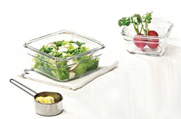 Glasslock (GL-530, 1x 405ml, 1x900ml, 1x1650ml) Viereckige Frischhaltedose aus Glas - Ofen Typ - 4