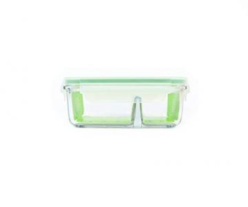 GLASSLOCK (MCRK-067, 670ml Rechteckige Vorratsdose aus temperiertem Glas - Mikrowelle Duo Typ - 3
