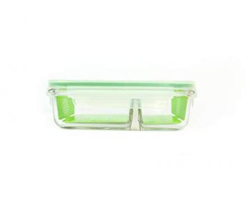 GLASSLOCK (MCRK-092, 920ml Rechteckige Vorratsdose aus temperiertem Glas - Mikrowellen Duo Typ - 3