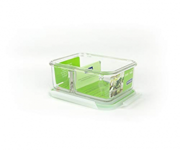 GLASSLOCK (MCRK-100A Rechteckige Vorratsdose aus temperiertem Glas mit Ventil Box-to-go (1000ml) Air Type - Mikrowellen - 2