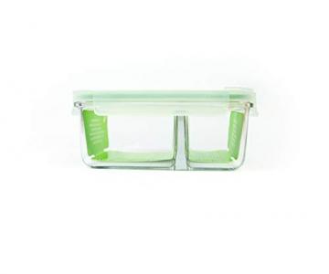 GLASSLOCK (MCRK-100A Rechteckige Vorratsdose aus temperiertem Glas mit Ventil Box-to-go (1000ml) Air Type - Mikrowellen - 3