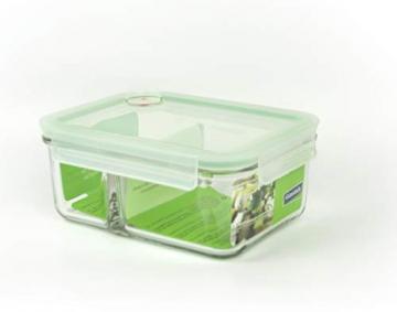 GLASSLOCK (MCRK-100A Rechteckige Vorratsdose aus temperiertem Glas mit Ventil Box-to-go (1000ml) Air Type - Mikrowellen - 1