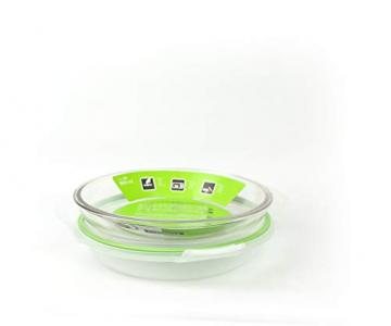 GLASSLOCK (MPCB-080A, 800ml Runde Vorratsdose aus Glas mit Ventil Air Typ - Mikrowellen - 2