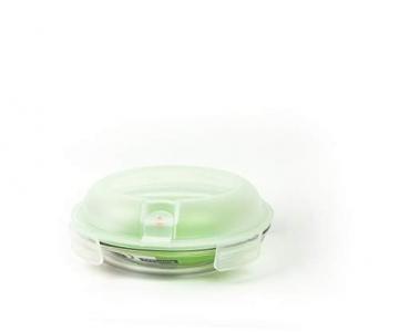 GLASSLOCK (MPCB-080A, 800ml Runde Vorratsdose aus Glas mit Ventil Air Typ - Mikrowellen - 1