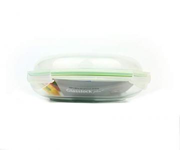 GLASSLOCK MPCB-175 1750ml Runde Vorratsdose aus Glas - Mikrowellen Typ- Wasser-und Luftdicht - Perfekt für Lebensmittelaufbewahrung - 4