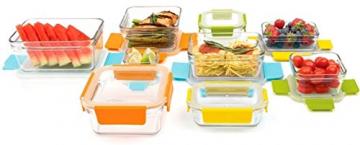 Glasslock Premium 18-teiliges Set ungiftig Geschirrspüler, Mikrowelle und Gefrierschrank Sichere Lebensmittel Container - 2