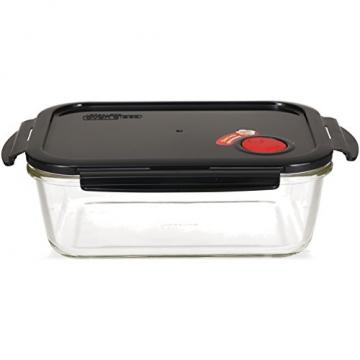 LOCK & LOCK Frischhaltedose aus Glas mikrowellengeeignet - Oven Glass - Auflaufform eckig mit Deckel für Backofen, Mikrowelle & Zum Einfrieren, 2 Liter - 2