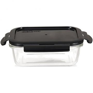 LOCK & LOCK Frischhaltedosen aus Glas mit Deckel, 3er Set eckig & klein- OVEN GLASS - Kühlschrank & Einfrieren - Auflaufform Backofen & Mikrowelle - 3