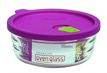 Lock & Lock LLG751 Ovenglas für Mikrowelle und Ofen, Glas, tranparent, 132×54mm - 1