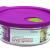 Lock & Lock LLG751 Ovenglas für Mikrowelle und Ofen, Glas, tranparent, 132×54mm -