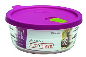 Lock & Lock LLG771 Ovenglas für Mikrowelle und Ofen, Glas, tranparent, 15.8 X 6.4 X 6.4 cm -