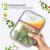 2-er Set Frischhaltedosen Glas Aufbewahrungsbox Auslaufsicher Lunchbox, 2 Luftdichte Fächer, Größe XL 1040 mL - Brotzeitdose Bento Box aus Glas BPA-frei - Meal-Prep-Box, Vorratsbehälter, Gefrierdosen - 5