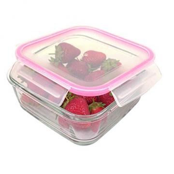 3 STÜCK Frischhaltedose aus Glas | glas Aufbewahrungsbox mit Deckel | 3 Größen Glasschüssel mit Deckel | Vorratsdosen Set luftdicht und auslaufsicher | Aufbewahrungsboxen mit Deckel zum Einfrieren - 3