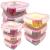 3 STÜCK Frischhaltedose aus Glas | glas Aufbewahrungsbox mit Deckel | 3 Größen Glasschüssel mit Deckel | Vorratsdosen Set luftdicht und auslaufsicher | Aufbewahrungsboxen mit Deckel zum Einfrieren - 4