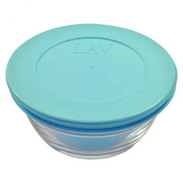 4 Stück LAV Master Glasbehälter mit Deckel + 4 Stück Schokolade als Dankeschön, Frischhaltedose Set, Glas Aufbewahrungsbehälter Schüssel Set mit Deckel, ideale Größe auch für Senioren - 5