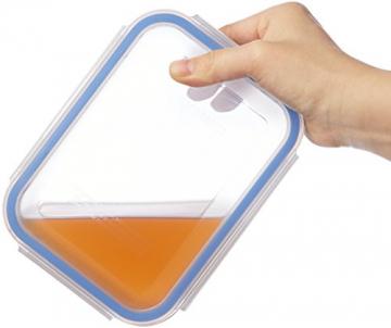 AmazonBasics - Frischhaltedosen aus Glas für Lebensmittel, mit Deckel, 14 -teiliges set (7 Behälter + 7 Deckel), BPA-freie - 5