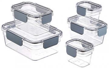 AmazonBasics - Tritan-Frischhaltedose mit Verschluss (5 dosen + 5 deckeln) - 1