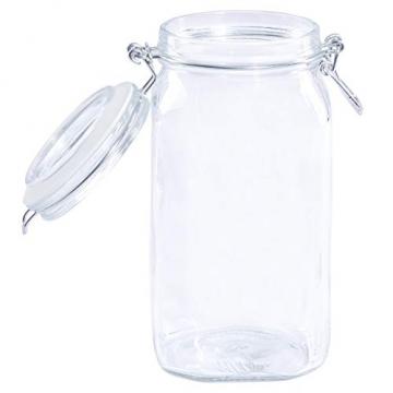 Bormioli Fido Gläser mit Bügelverschluss 6 teilig   Füllmenge 1,5 L   Luftdichte Konservierung durch den Gummiring sowie den Drahtbügelverschluss - 3