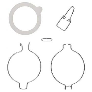 Bormioli Fido Gläser mit Bügelverschluss 6 teilig | Füllmenge 1,5 L | Luftdichte Konservierung durch den Gummiring sowie den Drahtbügelverschluss - 5