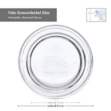 Bormioli Fido Gläser mit Bügelverschluss 6 teilig | Füllmenge 1,5 L | Luftdichte Konservierung durch den Gummiring sowie den Drahtbügelverschluss - 7