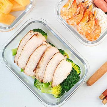 Crest [10er Set] Groß Glas Frischhaltedosen, Luftdicht, Auslaufsichere, BPA-Frei, Purpur - 8