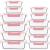 CREST 12-Teiliges Set Glas Frischhaltedose mit Verschluss, Aufbewahrungsbehälter aus Glas, Auslaufsichere, BPA-Frei - 1