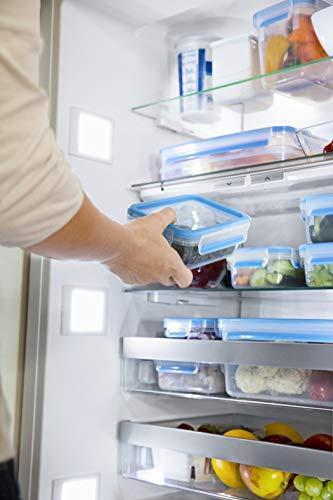 Emsa 508570 Clip & Close Frischhaltedosen | 3-teiliges Set | 3 x 0,55 L | -40 bis +100 Grad | Kunststoff | 100 % Dicht | Besondere Frische-Dichtung - 3