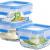 Emsa 515988 Clip & Close Glas Frischhaltedosen | 3er Set | 3 x 0,2 L | Quadratisch | 100%Dicht | Baby-Set | Erfüllt Baby Care Norm | BPA-Frei | Frische Dichtung - 2