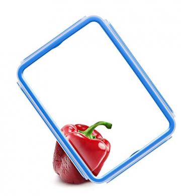 Emsa 515988 Clip & Close Glas Frischhaltedosen | 3er Set | 3 x 0,2 L | Quadratisch | 100%Dicht | Baby-Set | Erfüllt Baby Care Norm | BPA-Frei | Frische Dichtung - 5