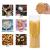 EZOWare 5er Set Glas Vorratsdosen, Vorratsgläser aus Borosilikatglas Küche Lebensmittel Lagerung Behälter mit Bambus Deckel - 2100ml / 1400ml / 600ml - 2
