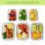 FITPREP® Frischhaltedosen aus Glas 12 teiliges Set [6 Vorratsdosen + 6 Deckel] Premium Glasbehälter mit Deckel & Lifetime Lasting Lid - perfekt für Meal prep - 4