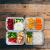 FITPREP® - Frischhaltedosen aus Glas [4 Stück-1040 ml] - 2 komplett dichte & getrennte Fächer - perfekte Meal Prep Boxen, inkl. schönem Rezeptheft - tolle Glasbehälter mit Deckel - 4