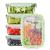 FITPREP® Frischhaltedosen aus Glas mit Deckel [5 Stück - 840ml] - super für Meal Prep - Glasbehälter mit Deckel der 100% dicht ist - inkl. schönem Rezeptheft - 2